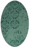rug #1116476 | oval damask rug