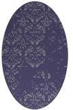 rug #1116510 | oval blue-violet graphic rug