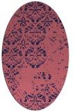 rug #1116514   oval blue-violet traditional rug