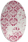 rug #1116538   oval red faded rug