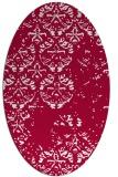 rug #1116539 | oval damask rug