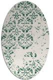 rug #1116554 | oval green traditional rug