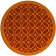 rug #111657 | round red-orange borders rug