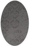rug #1116570 | oval brown damask rug