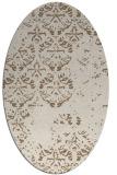 rug #1116574 | oval beige graphic rug