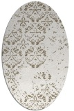 rug #1116578 | oval white faded rug