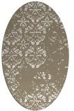 rug #1116579 | oval damask rug