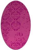 rug #1116638 | oval pink graphic rug
