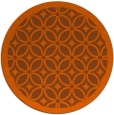 rug #111665 | round red-orange circles rug