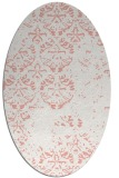 rug #1116650 | oval white traditional rug
