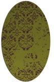 rug #1116658 | oval green damask rug