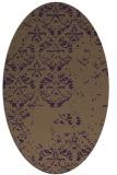 rug #1116662 | oval purple faded rug