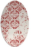 rug #1116670 | oval red traditional rug
