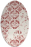 rug #1116678 | oval red traditional rug