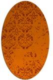 rug #1116686   oval red-orange faded rug