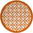 rug #111669 | round red-orange circles rug