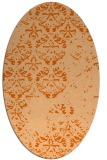 rug #1116690 | oval red-orange graphic rug