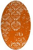 rug #1116698 | oval red-orange damask rug