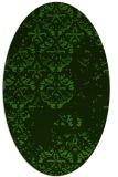 rug #1116702 | oval green damask rug