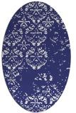 rug #1116714 | oval blue faded rug