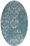 rug #1116726 | oval white traditional rug