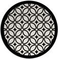 rug #111673 | round white geometry rug