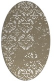 rug #1116730 | oval white faded rug