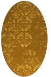 rug #1116746 | oval yellow faded rug
