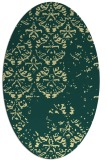 rug #1116750 | oval yellow graphic rug