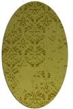 rug #1116754 | oval light-green faded rug