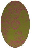 rug #1116763 | oval faded rug