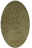 rug #1116766 | oval light-green faded rug