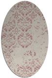 rug #1116774   oval pink damask rug