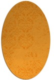 rug #1116778 | oval light-orange faded rug