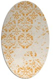 rug #1116782 | oval light-orange damask rug