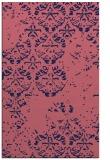 rug #1116882 |  blue-violet damask rug