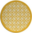 rug #111689 | round yellow popular rug
