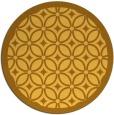 rug #111705 | round yellow borders rug