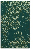 rug #1117118 |  blue-green damask rug