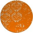 rug #1117154   round orange faded rug