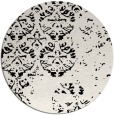 rug #1117158 | round white traditional rug