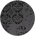 rug #1117162 | round black graphic rug