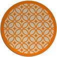rug #111717 | round orange circles rug