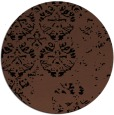 rug #1117170 | round black traditional rug