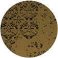 rug #1117174 | round mid-brown damask rug