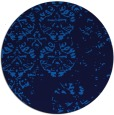 rug #1117186 | round blue faded rug