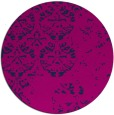 rug #1117190 | round blue faded rug