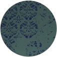 rug #1117194 | round blue faded rug