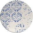 rug #1117202 | round blue traditional rug