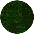 rug #1117214 | round green damask rug